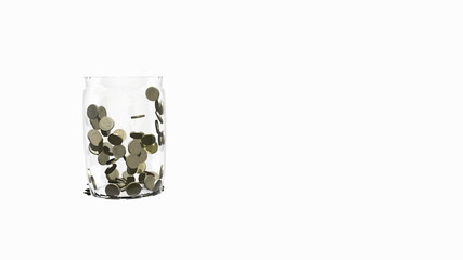Pound coins multiply in Jar. Comes with Alpha Matte.