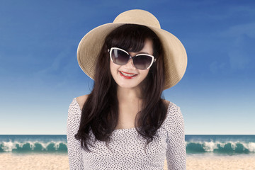 Attractive woman wearing summer clothes 1