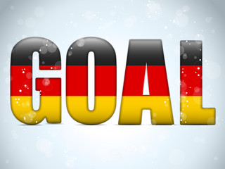 Germany Goal Soccer 2014 Letters with German Flag