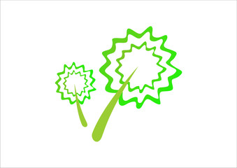 tree flower green leaf vector