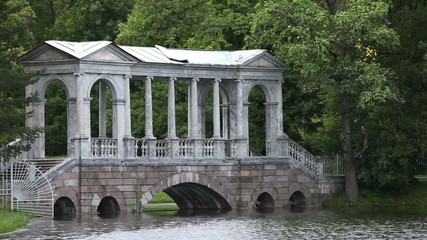 Marble (Palladian) Bridge,Marble (Palladian) Bridge, Pushkin. Pe