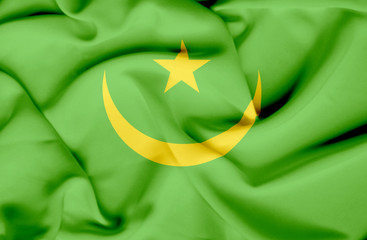Mauritania waving flag