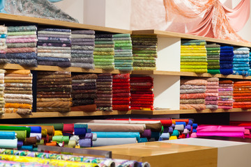 tissue store with fabrics