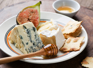 Assortment of fresh cheeses
