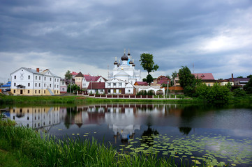 The orthodox church on coast river