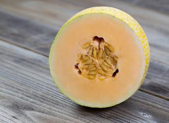 Freshly cut half Melon