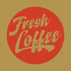 Retro Fresh Coffee Label