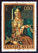 Postage stamp Yugoslavia 1971 Woman in Serbian Costume