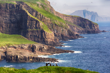 Dramatic landscape on Faroe islands.