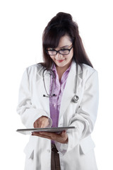 Female doctor with digital tablet 2