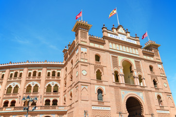 Las Ventas, famous Bullfighting arena in Madrid, Spain.