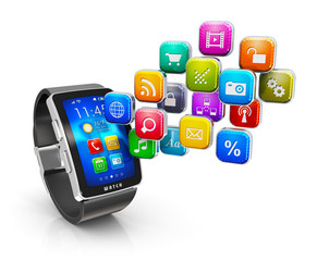 Smart watch applications concept