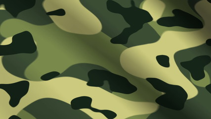 Background animation of looping green camouflage cloth.