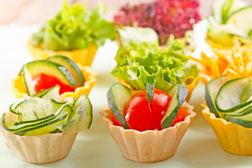 vegetable canapes
