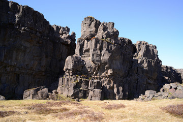 Thingvellir National park a famous area in Iceland right over th