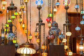 Arab street lanterns in Dubai, United Arab Emirates
