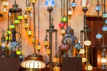 Arab street lanterns in Dubai, United Arab Emirates