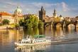 Leinwandbild Motiv Karlsbrücke in Prag