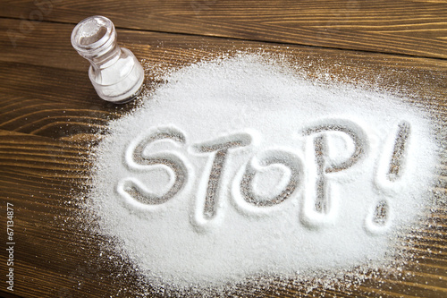 Fototapeta Stop salt – medical concept