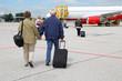 Reisende am Flughafen