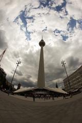 Fernsehturm di Berlino di Berlino, Germania