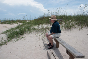 Retiree Enjoying the Beach