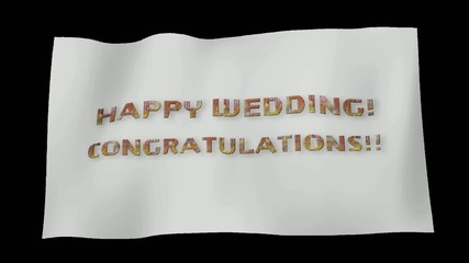 結婚おめでとうコングラチュレーション旗4マスク付き
