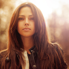 Beautiful woman face - closeup