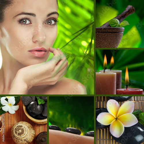 canvas print picture spa mix