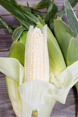 Fresh Ripe Sweet White Corn