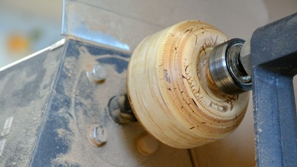 Sanding on the lathe