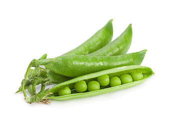 Peas vegetable on white
