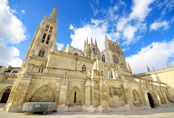 Burgos Cathedral. Famous Spanish Landmark.