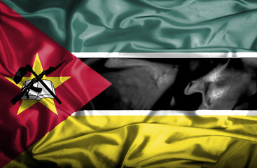 Mozambique waving flag