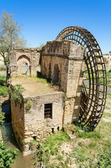 Ruins of an ancient arabic mill in Cordoba, Spain.