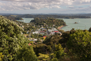 aerial view of Russell, Bay of Islands, New Zealand