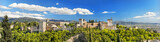 Panorama of the famous Alhambra palace in Granada, Spain.