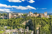 Famous Alhambra palace, Granada, Spain.