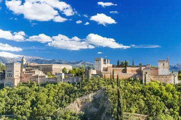 Famous Alhambra palace, Granada, Spain.