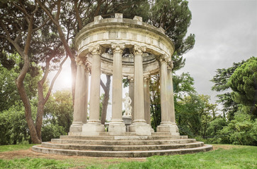 Fantasy Landscape of an ancient Roman temple.
