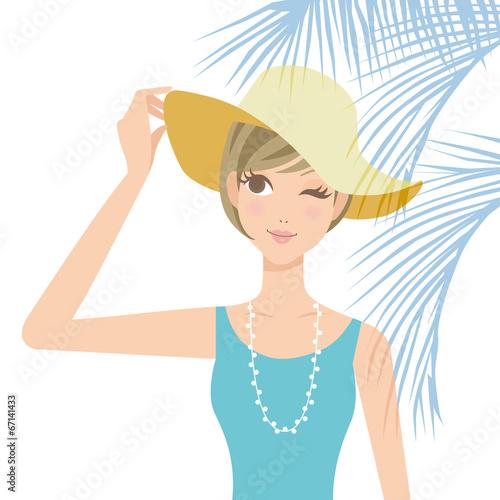 紫外線対策 女性 帽子
