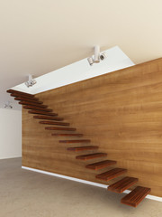 Stairs from wood