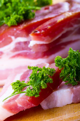 Smoked bacon and parsley herb