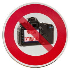 panonceau photos interdites