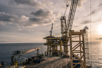 rig platform of oil and gas industry process HDR style