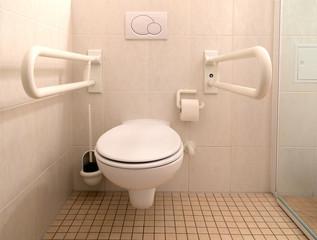Toilette für Behinderte