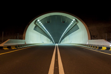 A tunnel on Kalba - Sharjah highway, UAE