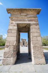 Debod Temple in Madrid. Ancient egyptian temple in Madrid, Spain