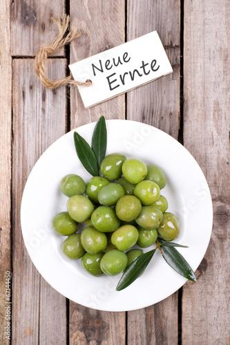 Oliven, neue Ernte