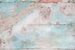 Shabby Chic: Holz Hintergrund mit Strandgut und Muscheln